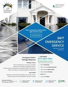 Emergency Water Damage Services Brochure