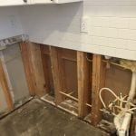 Removal of walls during mold remediation